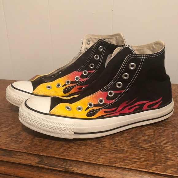 VINTAGE CONVERSE FLAME HIGH TOPS